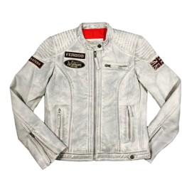Daytona Leather Smoke White