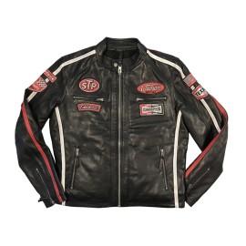 Giacca in pelle Daytona nera Uomo